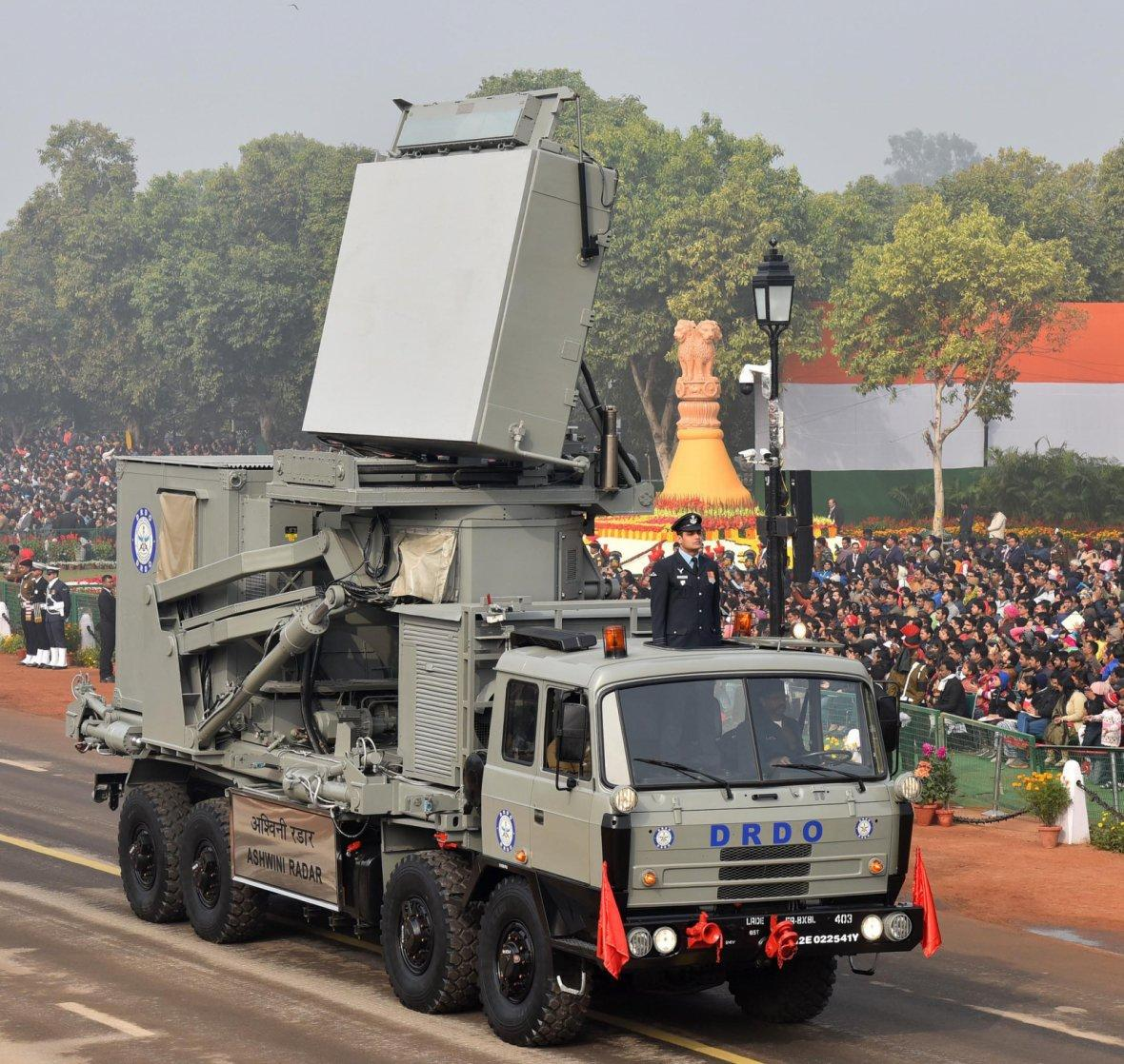 Ashwini Radar passes through the Rajpath