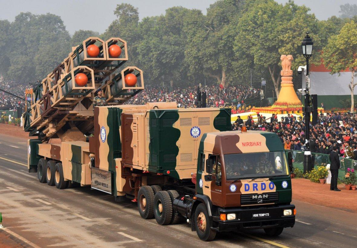 Nirbhay Missile passes through the Rajpath