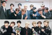 Wanna One (top) and BTS