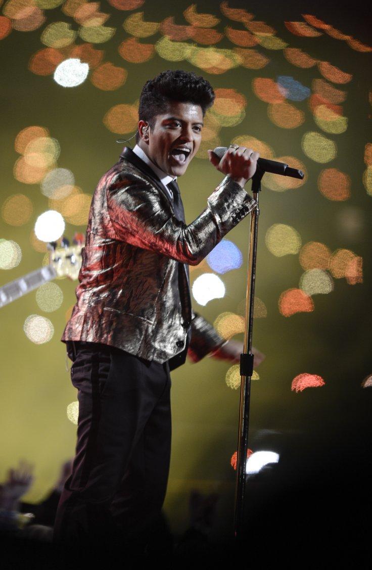 Singer Bruno Mars