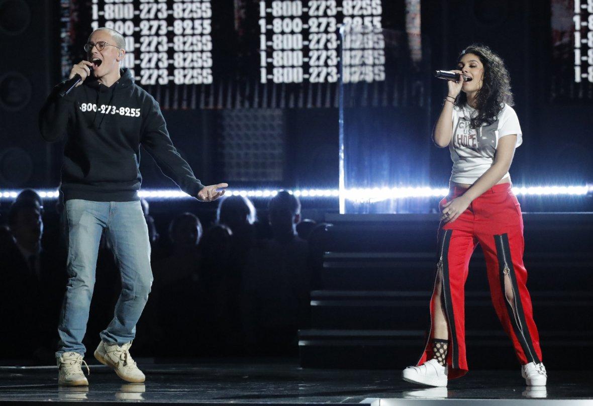 Logic and Alessia Cara perform