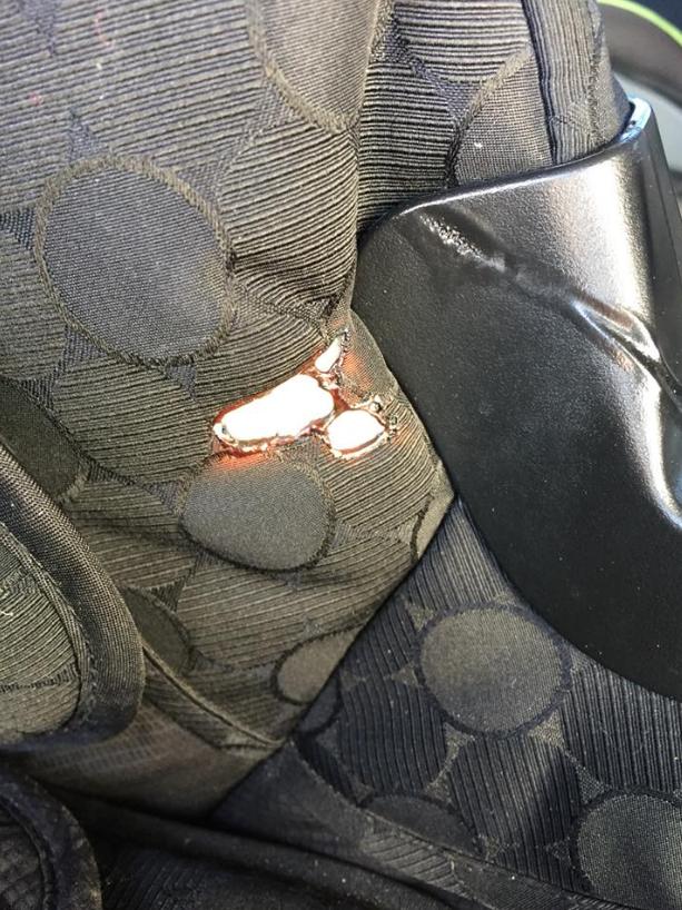 Burned seat