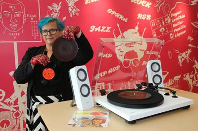Vinyl Records created by French artist Julia Drouhin that are made of chocolates