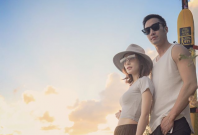 Gillian Chung and fiance Michael Lai