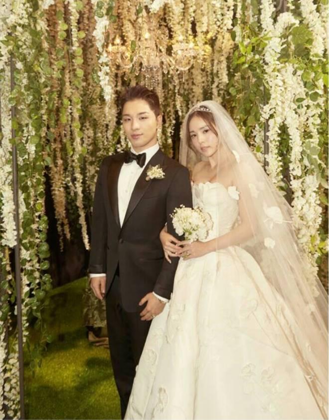 Official photos of Taeyang, Min Hyo Rin at their wedding