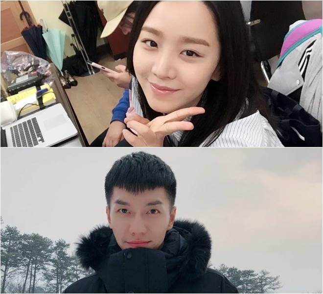 Shin Hye Sun (top) and Lee Seung-gi