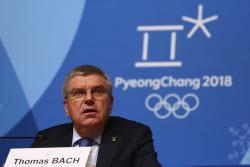 The International Olympic Committee President Thomas Bach holds a news conference following the IOC Executive Board meeting ahead of the the 2018 Winter Games in PyeongChang, South Korea