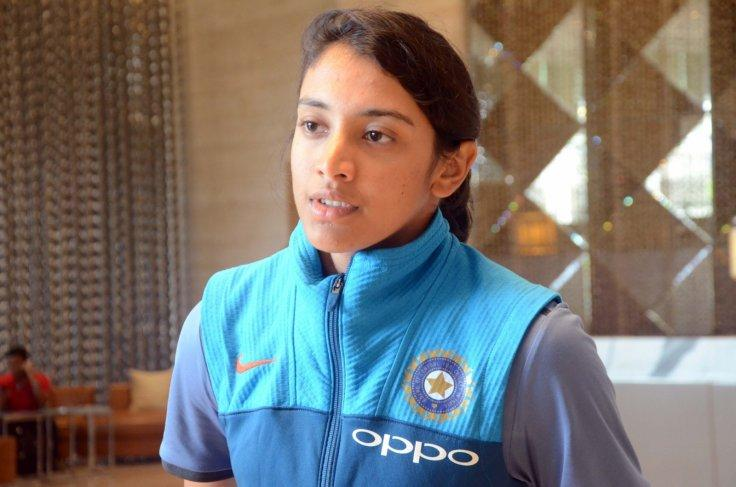 Indian women cricketer Smriti Mandhana at a Mumbai hotel after returning from England