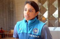 Indian women cricketer Smriti Mandhana at a Mumbai hotel after returning from England