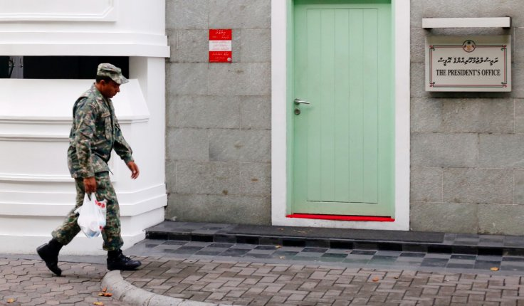 A Maldives National Defence Force soldier