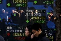 Asian shares drop