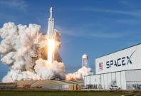 SpaceX Falcon Heavy rocket lifts off from historic launch pad 39-A at the Kennedy Space Center