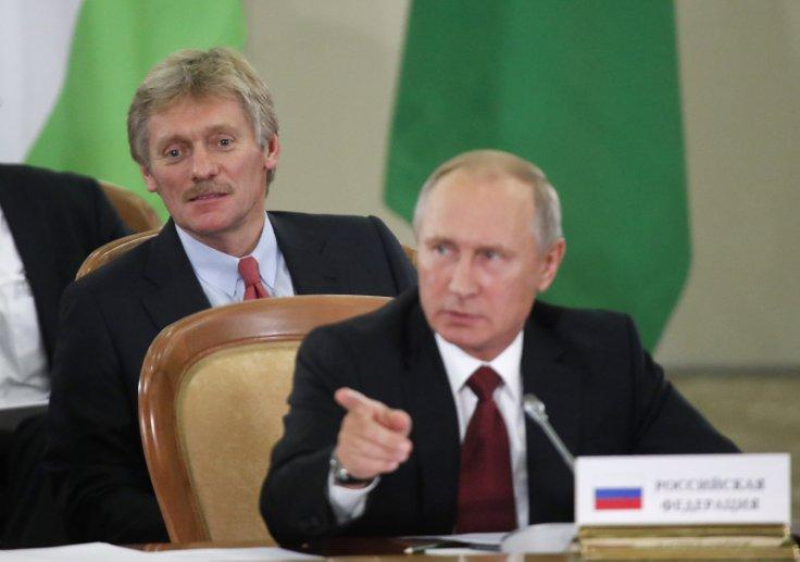 Russia's President Putin and Kremlin spokesman Dmitry Peskov