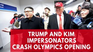 impersonators-of-kim-jong-un-and-donald-trump-call-for-peace-amid-the-winter-olympics