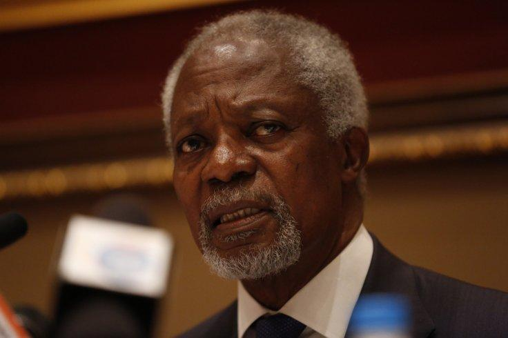 YANGON, Dec. 6, 2016 (Xinhua) -- Kofi Annan, chairman of Myanmar government-appointed Rakhine State Advisory Commission, speaks to media during a press conference in Yangon, Myanmar, Dec. 6, 2016. Kofi Annan on Tuesday called for stability in Myanmar's Ra