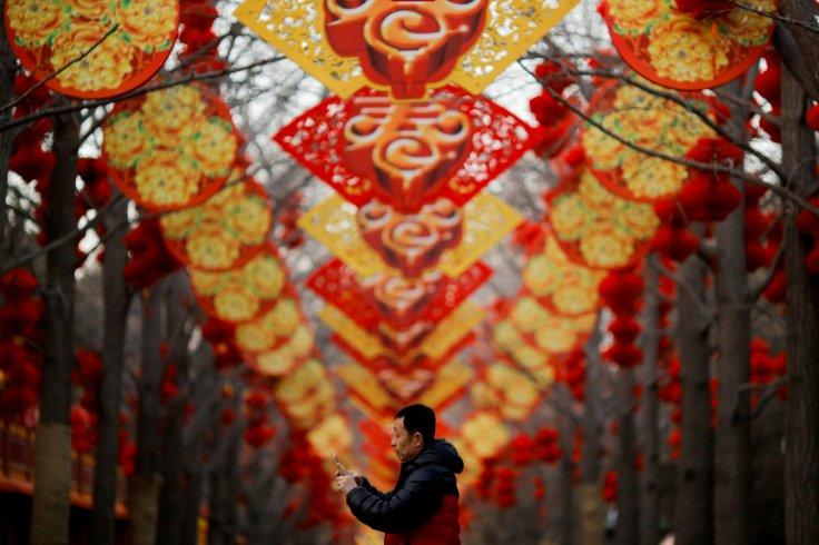 Chinese Lunar New Year at Ditan Park in Beijing, China