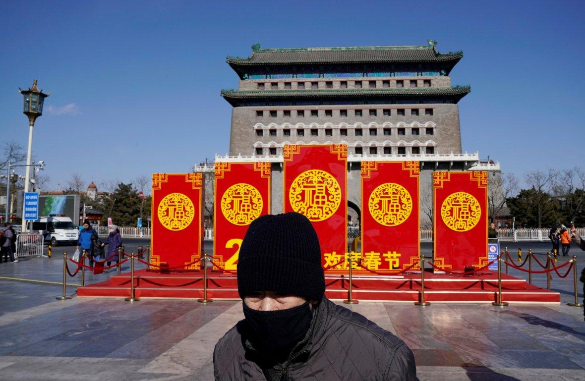Chinese Lunar New Year near Qianmen Gate in Beijing, China