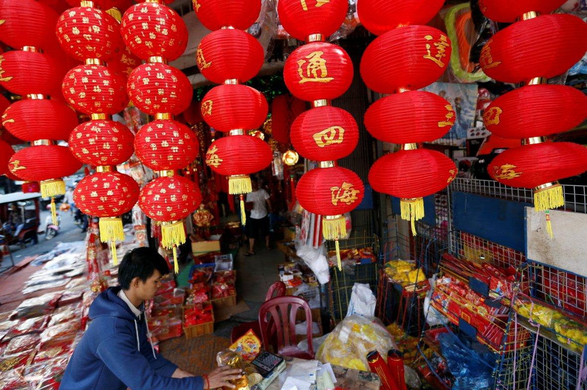 Chinese Lunar New Year in central Phnom Penh, Cambodia