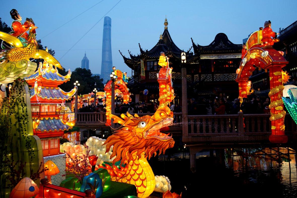 Chinese New Year in Yu Yuan Garden in Shanghai