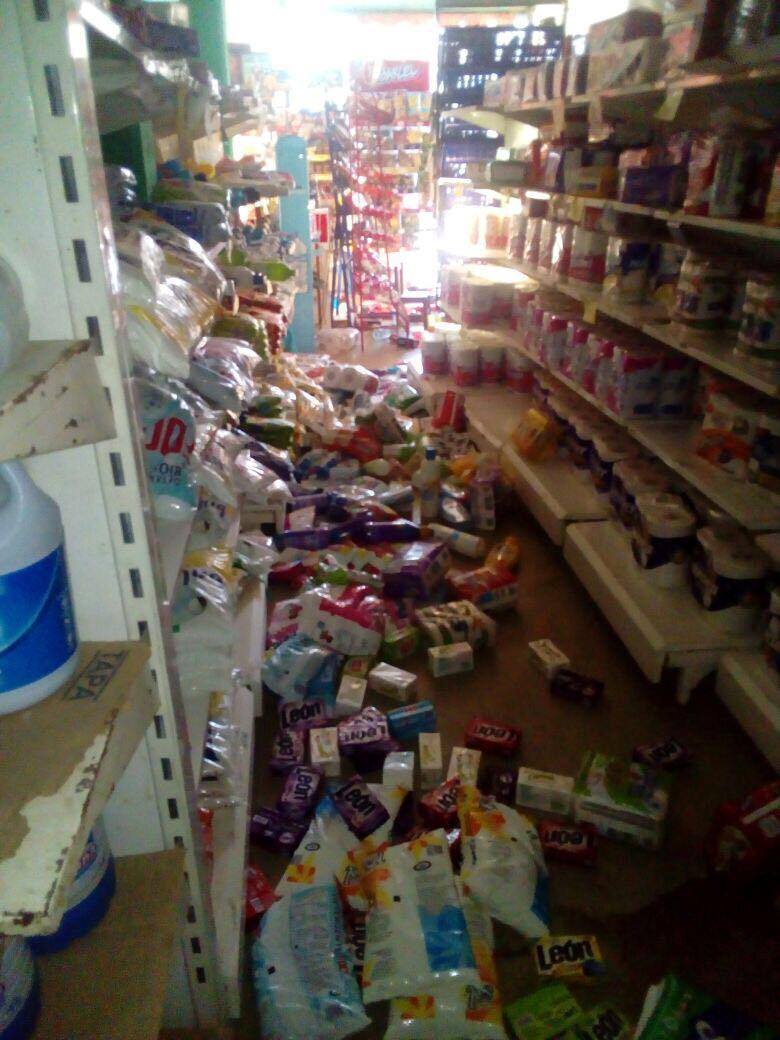 MexicoFallen merchandise is seen on the floor after an earthquake in Oaxaca