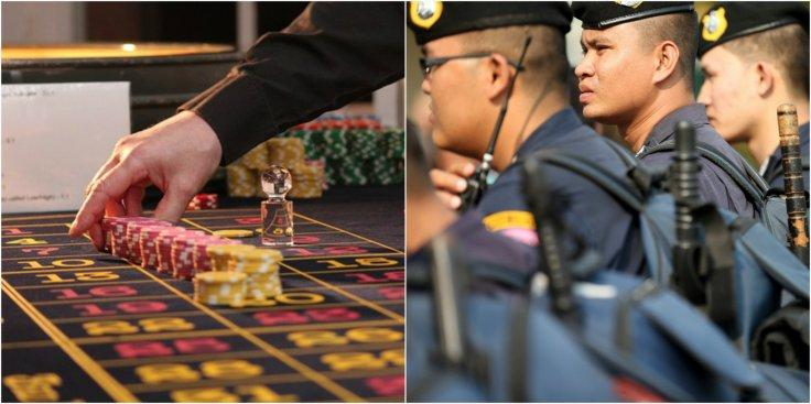 Indonesia police and gambling