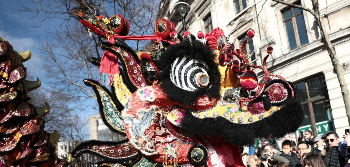 London, United KingdomPerformers dressed in traditional lion and dragon costumes take part in the Chinese New Year