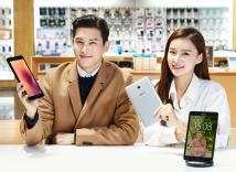 Seoul: Models pose with Galaxy Tab A tablet PCs in this photo released by Samsung Electronic