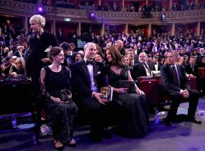 Prince William, Duke of Cambridge and Catherine, Duchess of Cambridge attend the British Academy Film Awards (BAFTA)