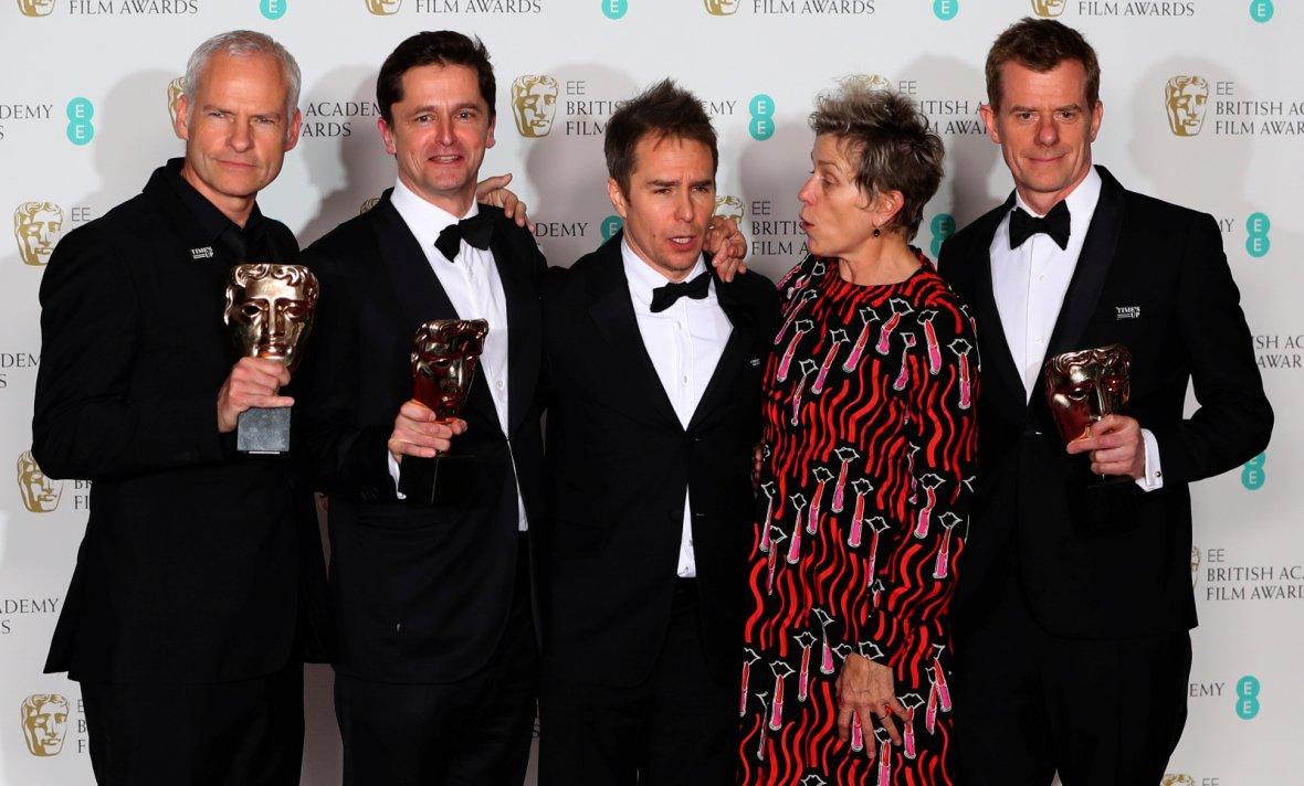 Three Billboards Outside Ebbing Missouri' at the British Academy of Film and Television Awards (BAFTA)