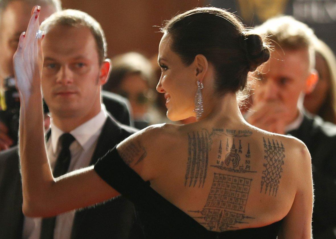 Angelina Jolie arrives at the British Academy of Film and Television Awards (BAFTA)