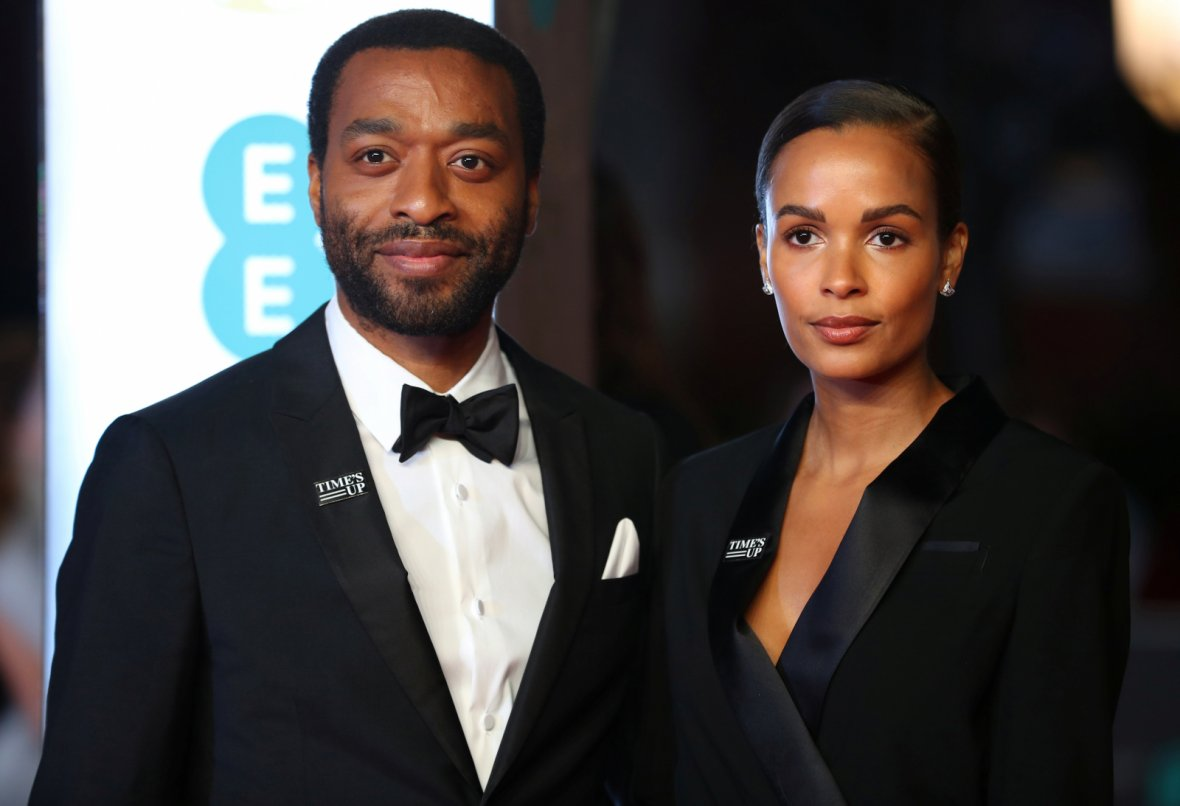 Chiwetel Ejiofor and Frances Aaternir arrive for the British Academy of Film and Television Awards (BAFTA)