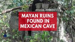 Mayan ruins found in Mexican cave