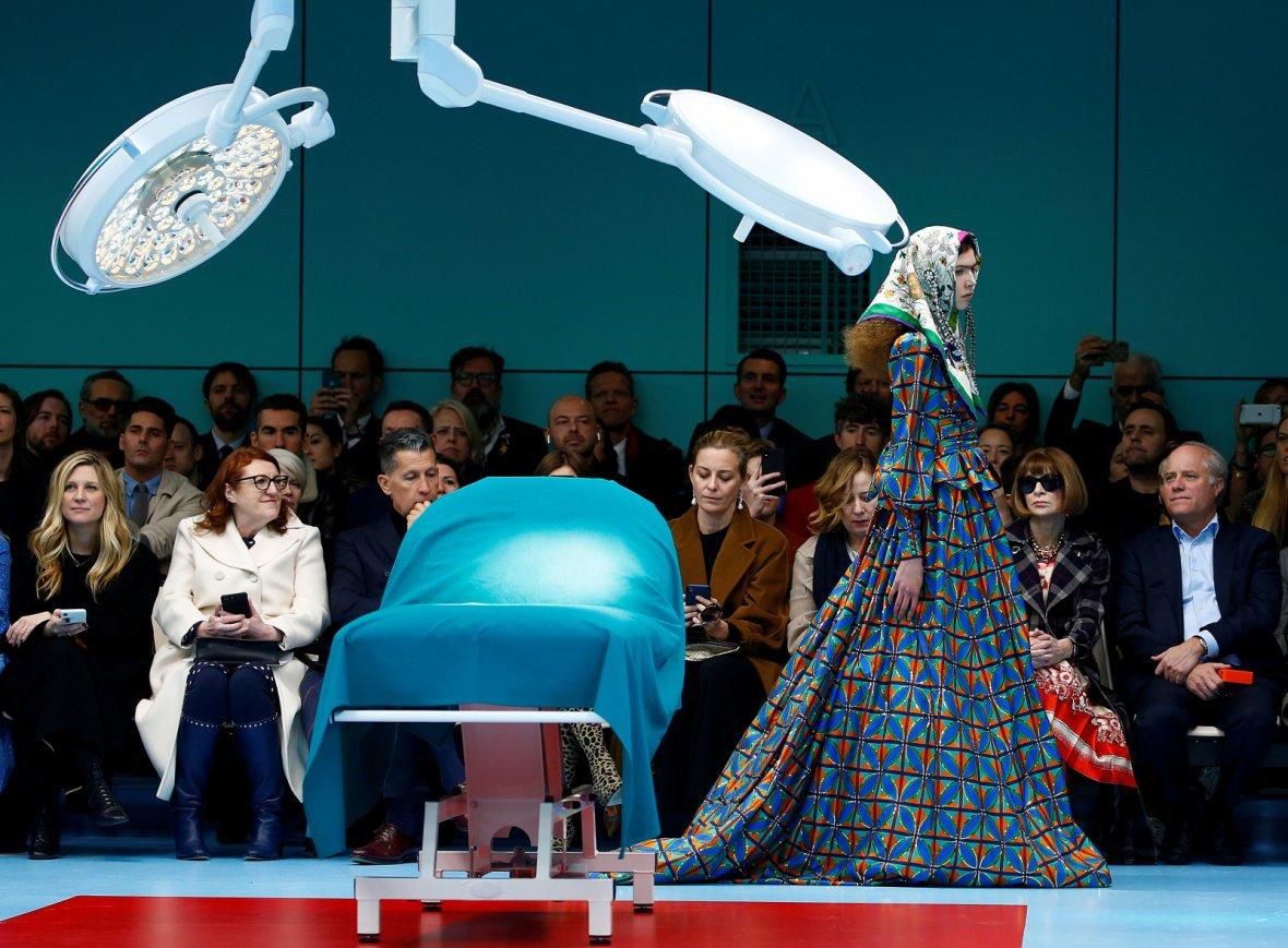 Gucci Autumn/Winter 2018 women collection during Milan Fashion Week in Milan