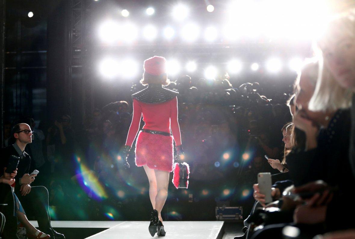 Moschino Autumn/Winter 2018 women collection during Milan Fashion Week in Milan