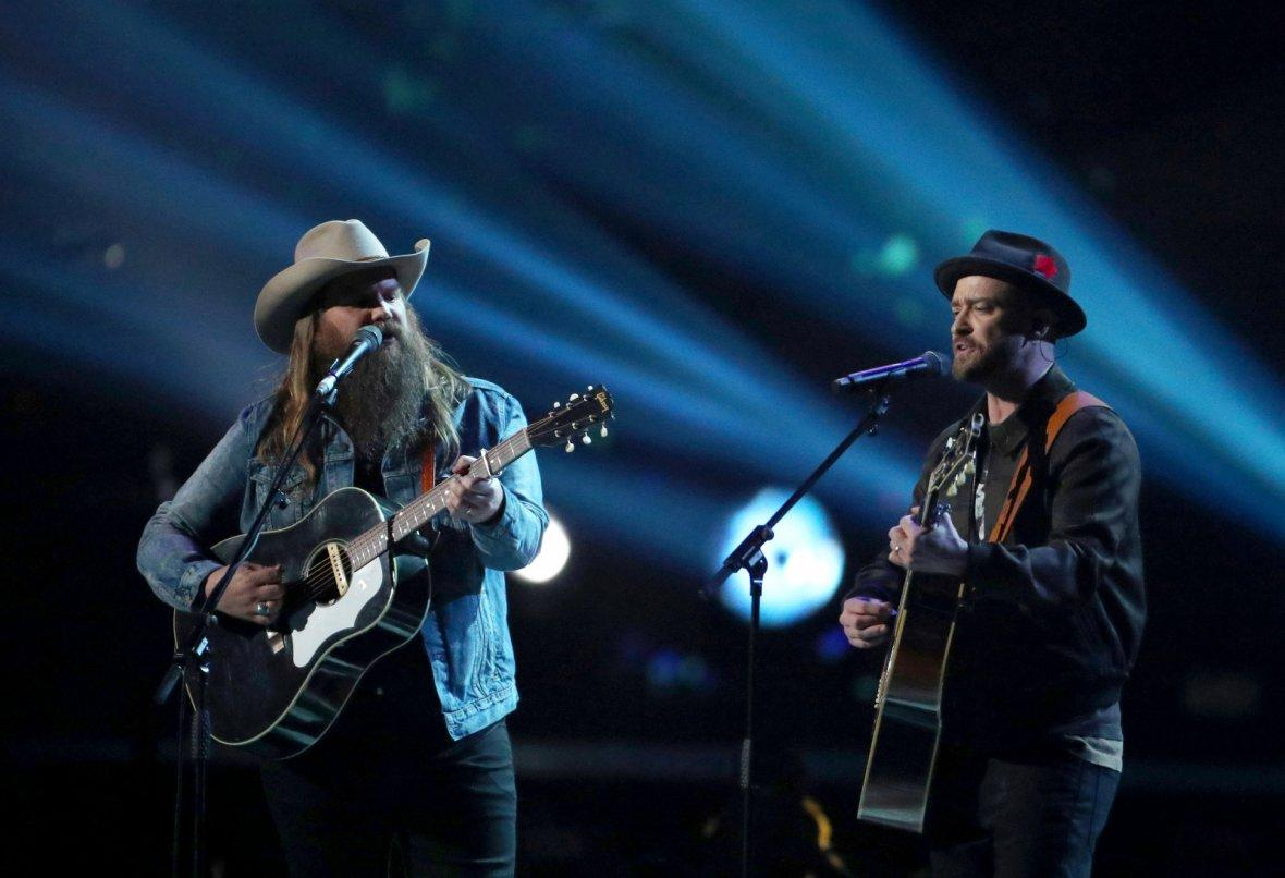 Justin Timberlake and Chris Stapleton perform
