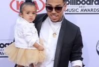 Singer Chris Brown with daughter Royalty Brown