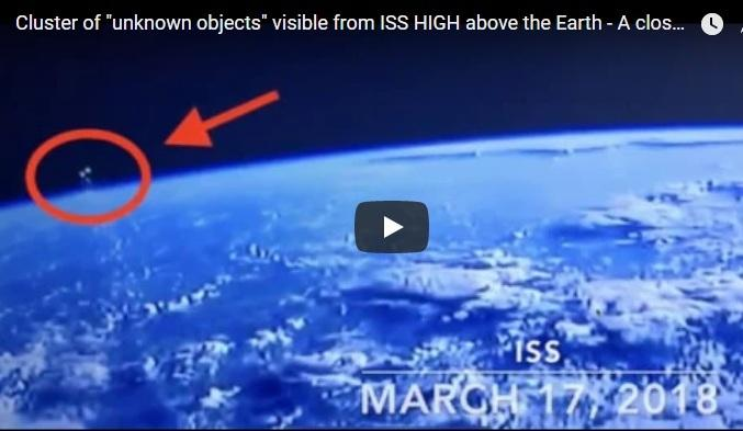 UFO seen from ISS