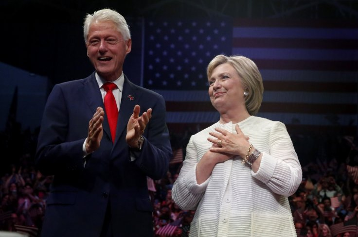 After winning Democrats' White House nomination, Hillary Clinton is praised by Bill Clinton