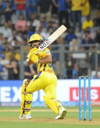 Mumbai: Kedar Jadhav of Chennai Super Kings in action during an IPL 2018 match between Mumbai Indians and Chennai Super Kings at Wankhede Stadium in Mumbai on April 7, 2018.