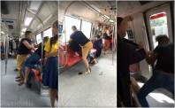 Fight in MRT train