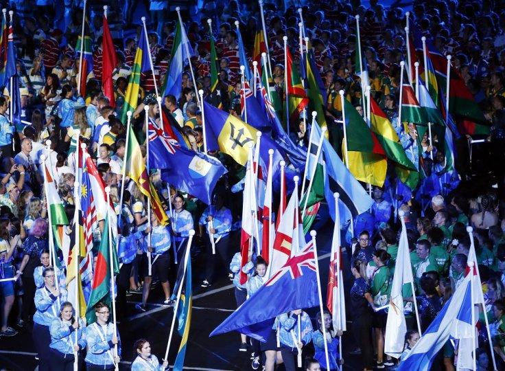 Gold Coast 2018 Commonwealth Games - Closing Ceremony - Carrara Stadium - Gold Coast, Australia - April 15, 2018. Athletes, volunteers and staff members during the closing ceremony.