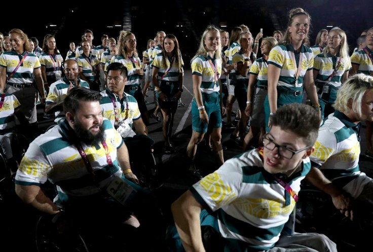Gold Coast 2018 Commonwealth Games - Closing ceremony - Carrara Stadium - Gold Coast, Australia - April 15, 2018 - Athletes of Australia attend the closing ceremony