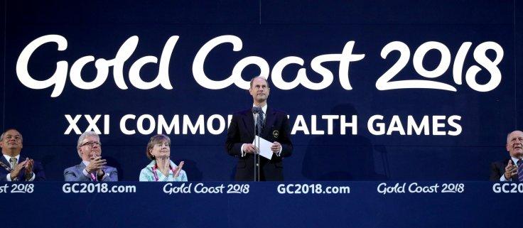 Gold Coast 2018 Commonwealth Games - Closing ceremony - Carrara Stadium - Gold Coast, Australia - April 15, 2018 - Britain's Prince Edward speaks.