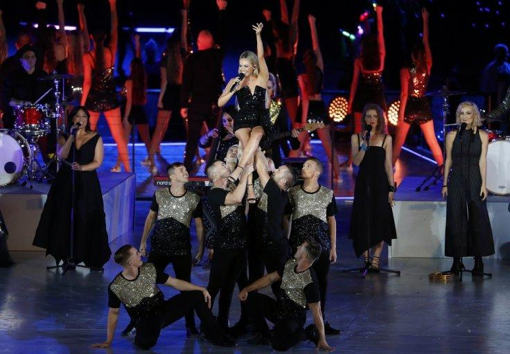 Gold Coast 2018 Commonwealth Games - Closing Ceremony - Carrara Stadium - Gold Coast, Australia - April 15, 2018. Samantha Jay performs.