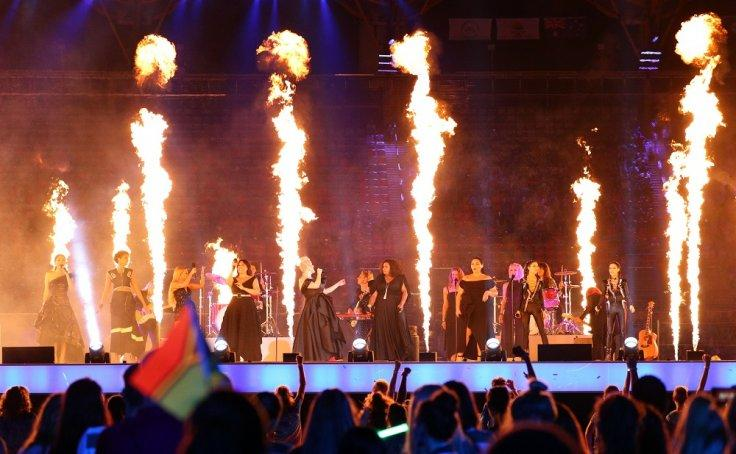 Gold Coast 2018 Commonwealth Games - Closing ceremony - Carrara Stadium - Gold Coast, Australia - April 15, 2018 - Artists perform during the closing ceremony.