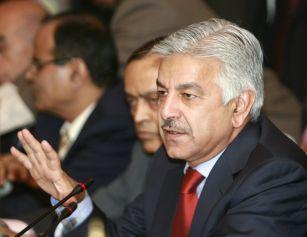 Pakistani Foreign Minister Khawaja Muhammad Asif