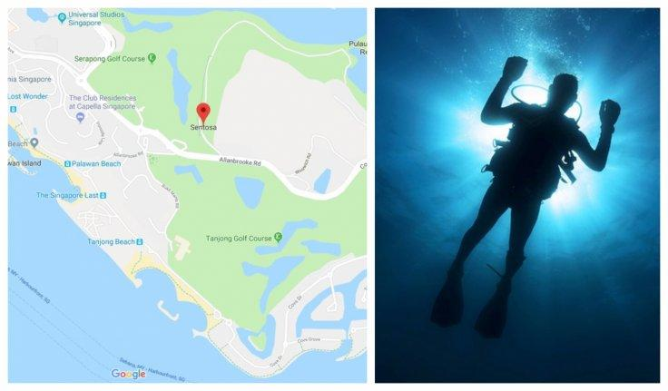 Singapore missing diver