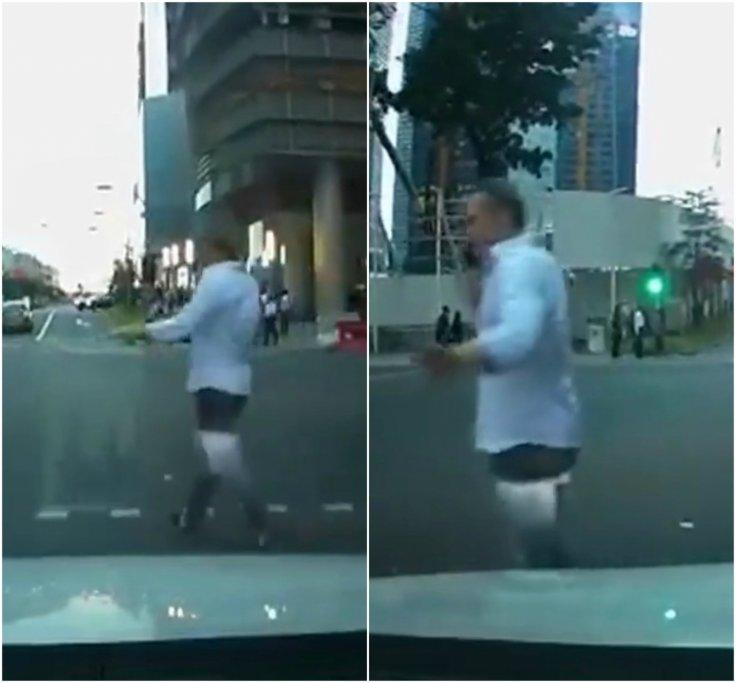 Jaywalking in Singapore