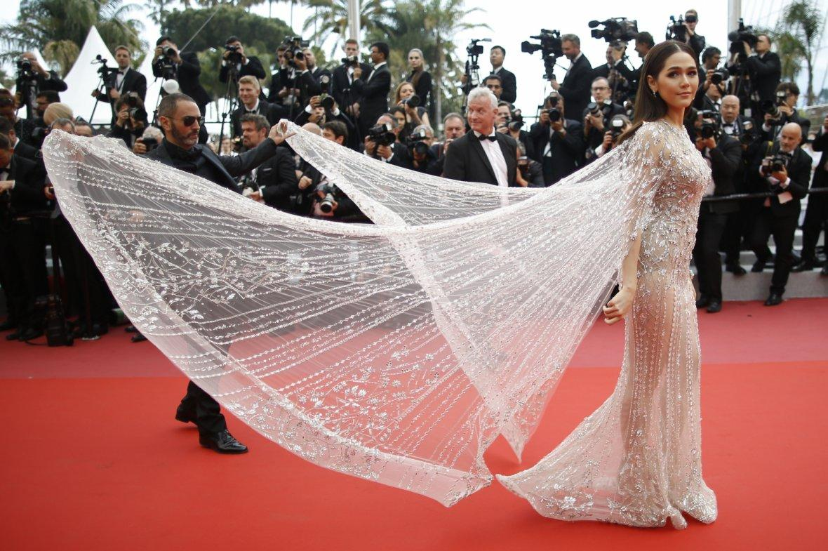 71st Cannes Film Festival - Screening of the film Sorry Angel (Plaire, aimer et courir vite) in competition - Red Carpet Arrivals - Cannes, France, May 10, 2018 - Araya Hargate arrives.
