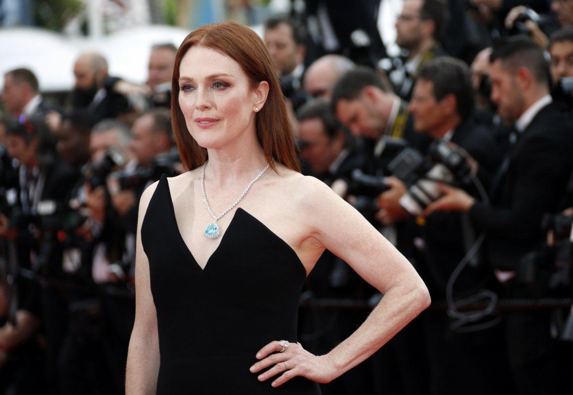 "71st Cannes Film Festival - Screening of the film ""Yomeddine"" in competition - Red Carpet Arrivals - Cannes, France, May 9, 2018. Actor Julianne Moore poses."